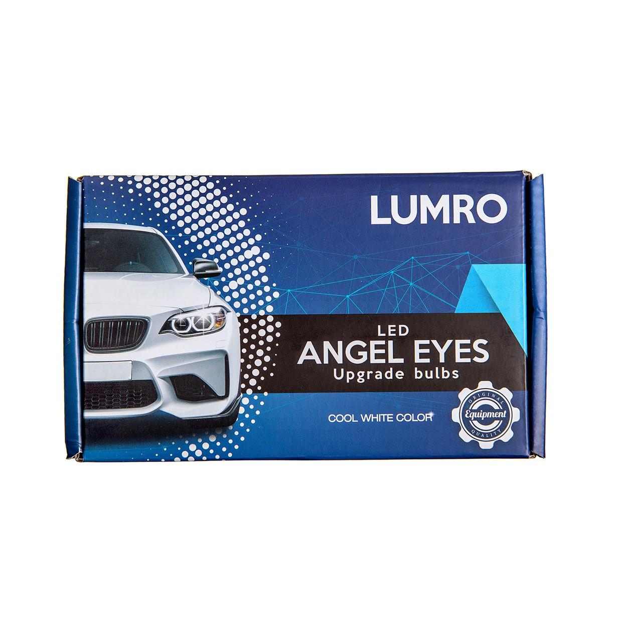 Lumro Bmw 3 Series E90 E91 Facelift 63117161444 20W Cree Led Angel Eyes Bulbs-9030