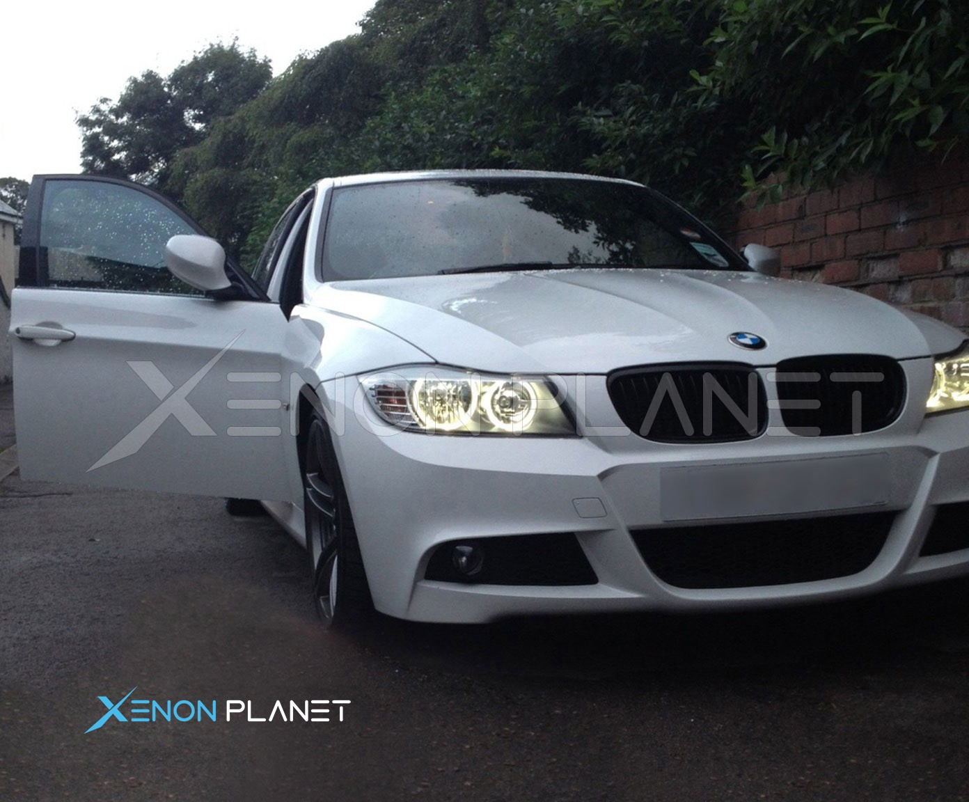 Bmw e87 angel eyes headlights-7698